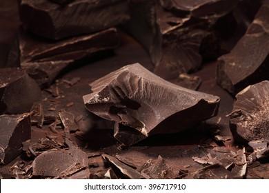 Dark chocolate chunks   background