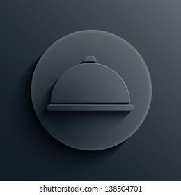 dark circle icon.