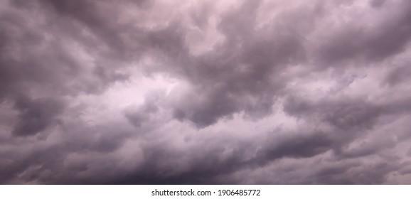 Dark Cloud Before Stormry In Java Sky