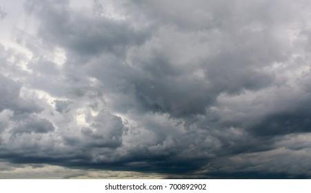 Dark clouds before rain.