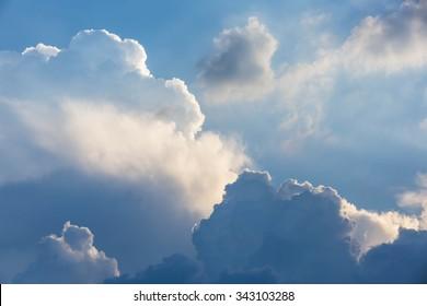 Dark clouds before thunderstorm and rain