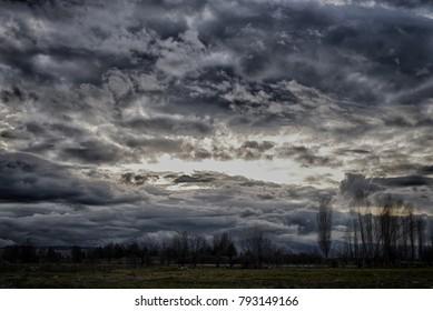 Dark clouds cloudscape