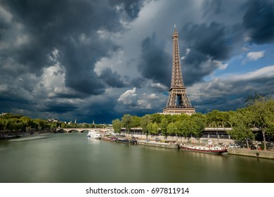 Dark Clouds are coming over the Eiffel Tower