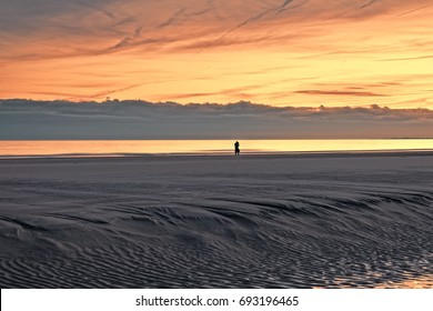 """""""Dark Clouds Descend"""" Another photographer capturing sunset at low tide as it becomes obscured  by a threatening bank of clouds that descended over the Atlantic Ocean, just off Hilton Head Island SC."""
