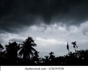 dark clouds on the sky because of super cyclone Amphan over the Bay of Bengal. picture from Kolkata, West Bengal, India
