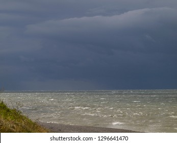 Dark clouds over the Baltic Sea