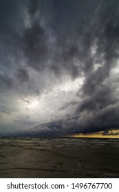 Dark clouds over Baltic sea.