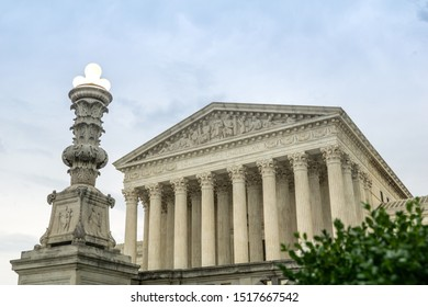 Dark clouds over the United States Supreme Court, Washington, D.C.