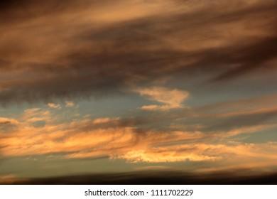 Dark cloudy sky in rainy season. Nature concept
