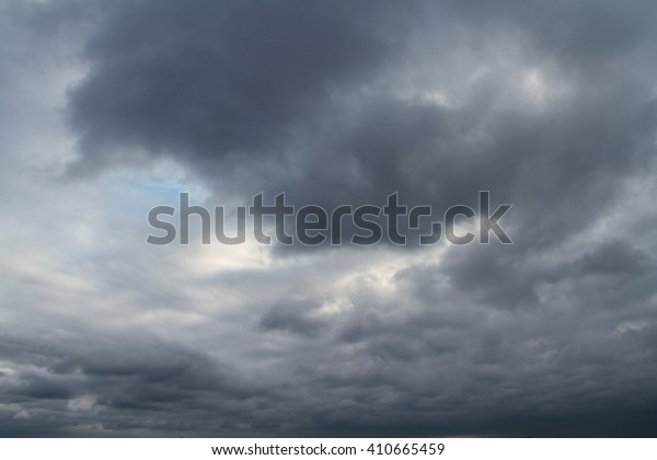 Dark cloudy sky in rainy season