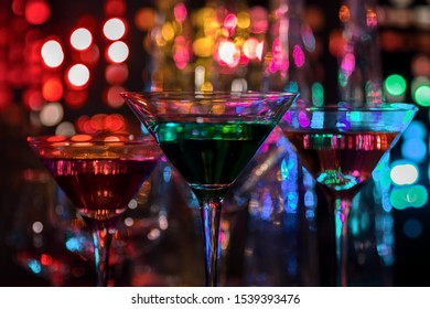 dark colorful cocktails and drinks sign