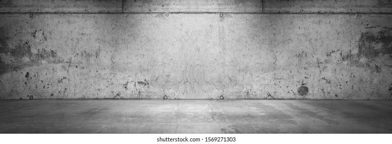 Dark Concrete Wall Background Grunge Product Placement Garage Scene