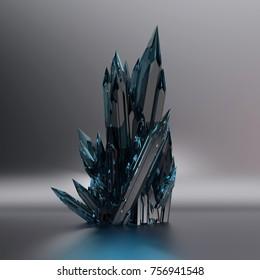 dark crystal, 3d illustration