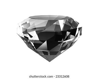 Dark diamond on white background