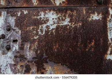 Dark dirty worn rusty metal texture background.