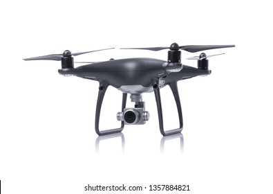 Dark drone isolated on a white background.