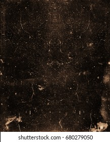 Dark dusty grunge scary background. Old horror texture for halloween concept