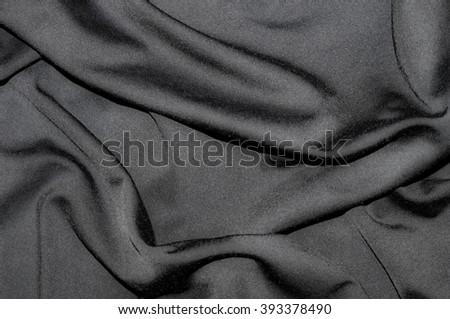 Dark Fabric Texture Elegant Waves Stock Photo Edit Now 393378490
