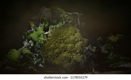 Dark Food broccoli romans Brassica oleracea  italica