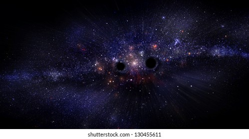 Dark galaxy with black holes