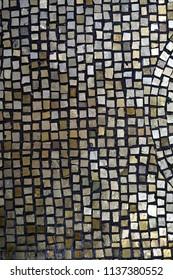 Dark and glassy mosaic detail