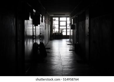 Dark gloomy corridor