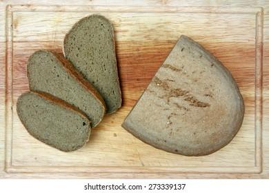 dark gluten-free bread with hemp flour