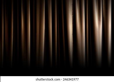 Dark gold curtain fade to black