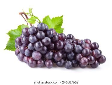 Dark grape isolated on white background