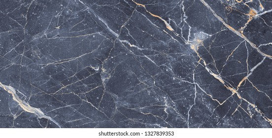 Dark gray blue marble texture background  for ceramic tile surface