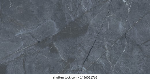 Dark gray marble with natural pattern for background, abstract natural black marbel texture design