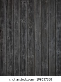 Dark Gray or Off Black Rustic Painted Wood Boards.  Color photo. A Halloween design element.  Vertical