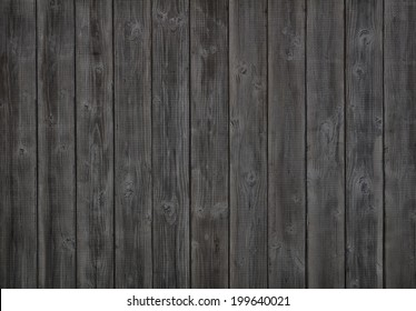 Dark Gray or Off Black Rustic Painted Vertical Wood Board Background.  Color photo.  Horizontal, a Halloween design element