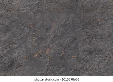 Dark gray seamless venetian plaster pattern background stone texture. Cement stucco venetian plaster stone texture grain. Artistic volcanic grey sand texture with cracks, waves, dents