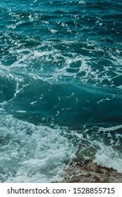 dark green blue ocean water
