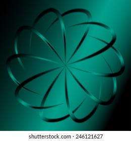 Dark green circular background illustration