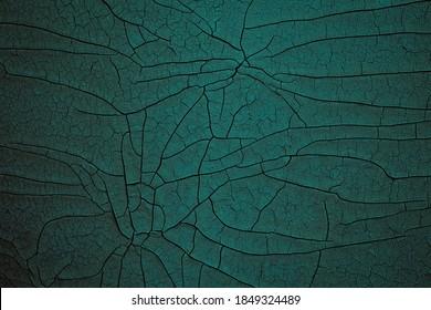 dark green cracked enamel texture, crackle art background
