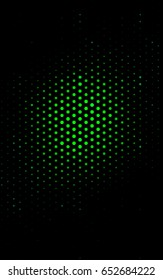 Dark Green illustration which consist of circles. Dotted gradient design for your business. Creative geometric background in halftone style with colored spots.