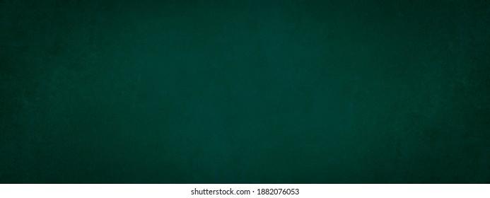 Dark green stone concrete paper texture background banner panorama