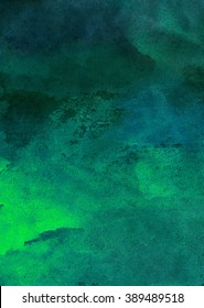dark green watercolor background