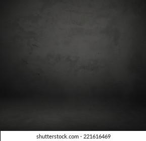 Dark grey background, cyclorama made of concrete