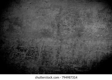 Dark grey background. grunge texture background, black and white