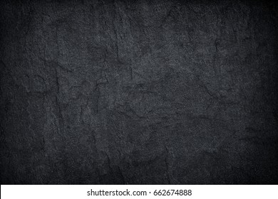 Dark grey black slate stone background or texture