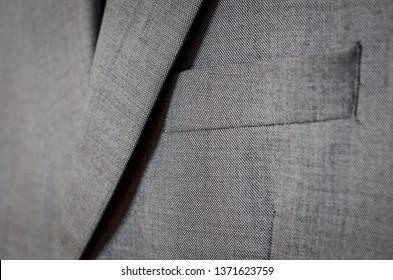 Dark grey blazer  close up