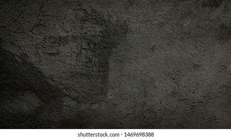 Dark grey concrete texture. Old stone wall background. Empty space