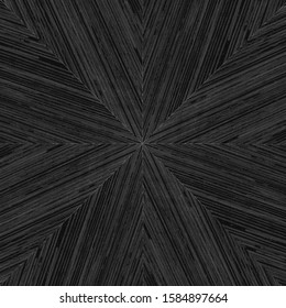 Dark grey starburst pattern in wood