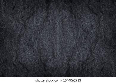 Dark grey stone / black slate stone background or texture