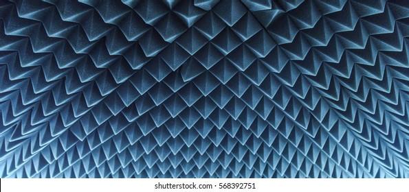 dark grey triangular texture acoustic foam rubber
