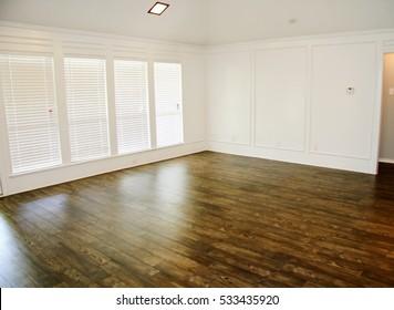 Dark Hardwood Floor in Residential House