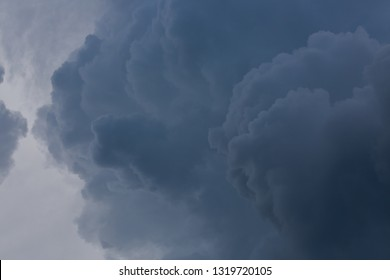 dark heavy storm cloud on dramatic moody sky